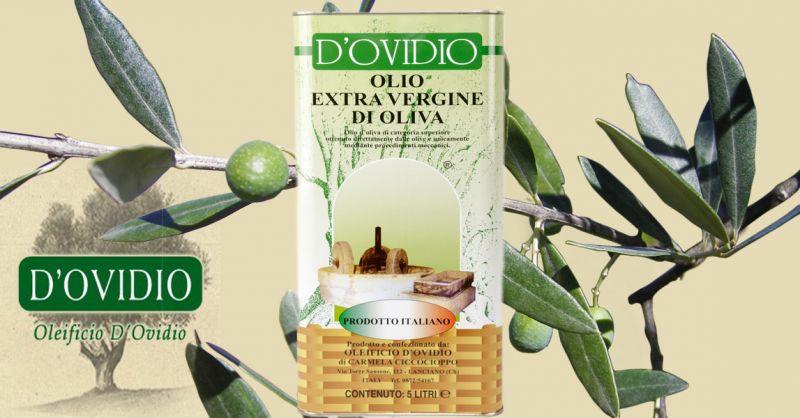 Oleificio D'Ovidio Offerta produzione vendita olio extravergine in lattina made Italy Abruzzo