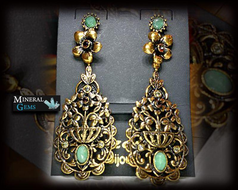 offerta vendita online Orecchini Pendenti con Smeraldo- promozione gioielli personalizzati bari