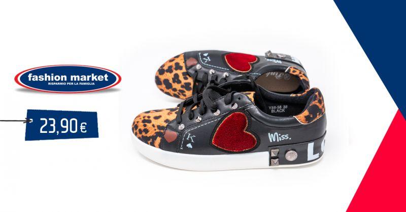 offerta scarpe da ginnastica donna Fashion Market - occasione scarpe  sneakers animal Roma b3789a245fb