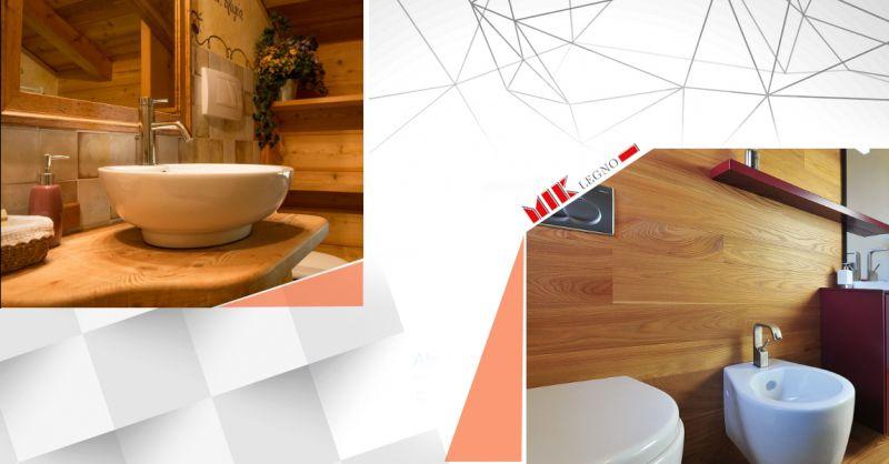 Offerta vendita e distribuzione mobili artigianali per bagno in legno massello - Miklegno
