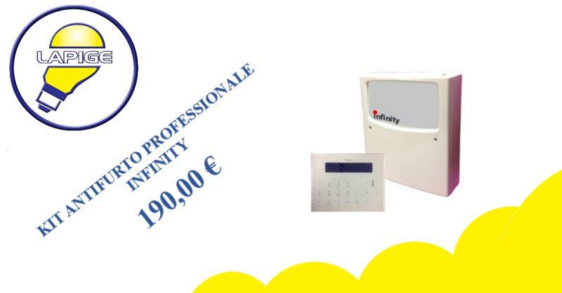 offerta kit antifurto professionale infinity - promozione antifurti gsm lapigesrl