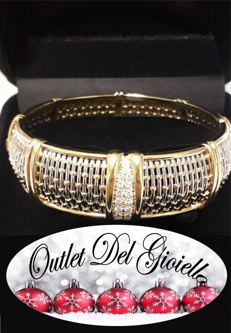 offerta bracciale Cartier oro e acciaio con diamanti - promozione bracciale gioelli Cartier PN
