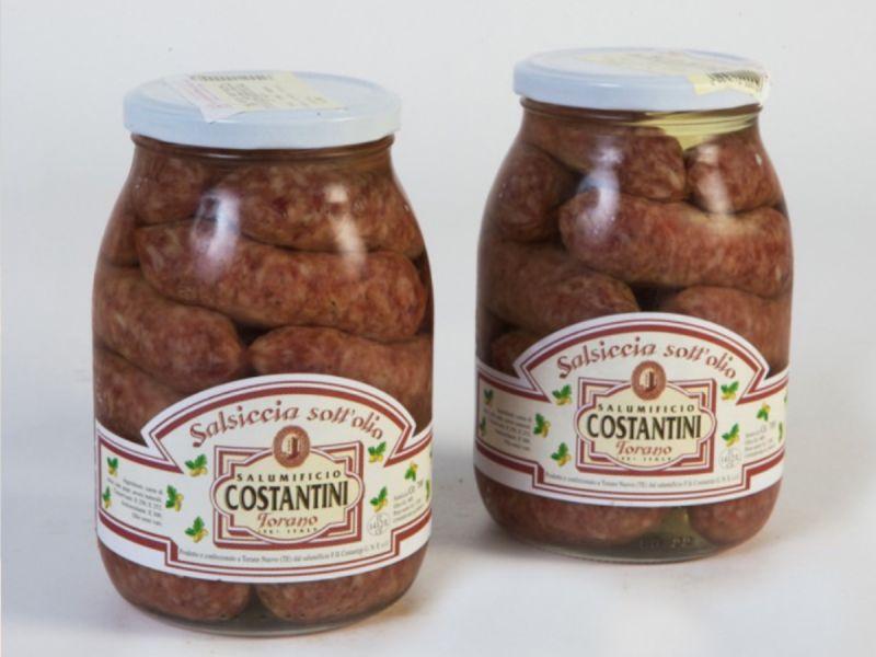 offerta salsiccia stagionata sott'olio - occasione produzione salumi tradizionali abruzzesi