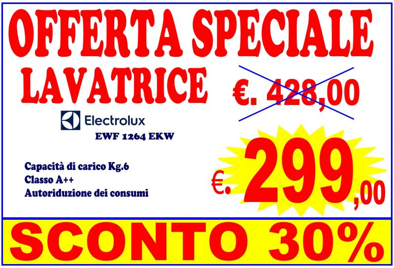 LAVATRICE Electrolux EWF1264EKW