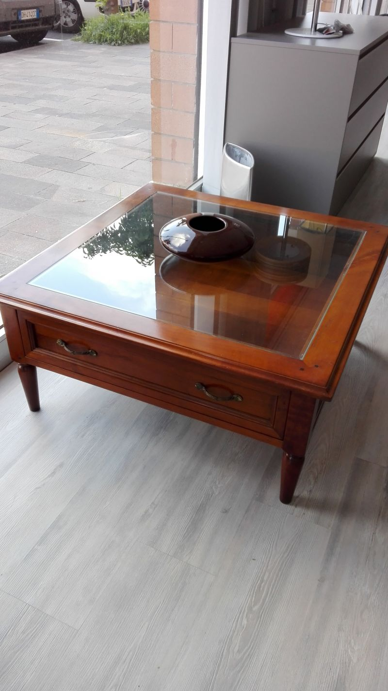 Tavolino salotto Marchetti Legno e Vetro a Savona - SiHappy