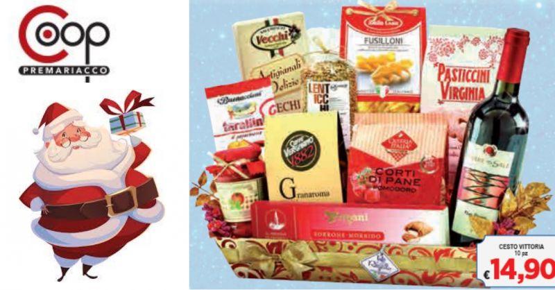 Coop Premariacco occasione cesti natalizi - offerta vendita prodotti tipici festività natale
