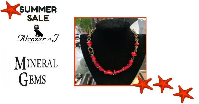 offerta collana corallo bambu Alcozer collezione unic- promozione gioielli Alcozer mineral gems