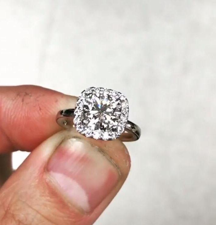 offerta Anello artigianale in oro bianco e diamanti foggia promo realizzazioni gioia gioielli