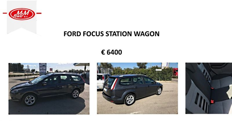 offerta ford focus 1.6 TDCi DA 110 CV Bari- promozione auto  STATION WAGON m&m power