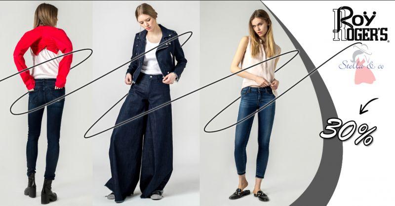 Offerta vendita jeans alla moda uomo donna Roy Roger's a Treviso - Stella & Co