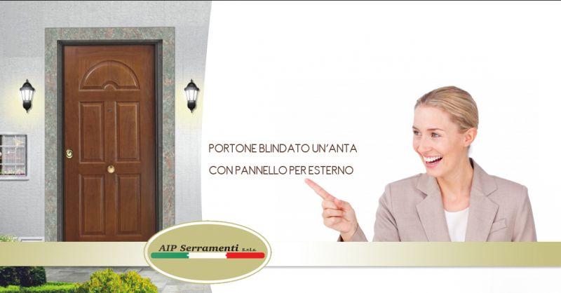 Offerta vendita e distribuzione porta blindata con pannello esterno - Aip Serramenti