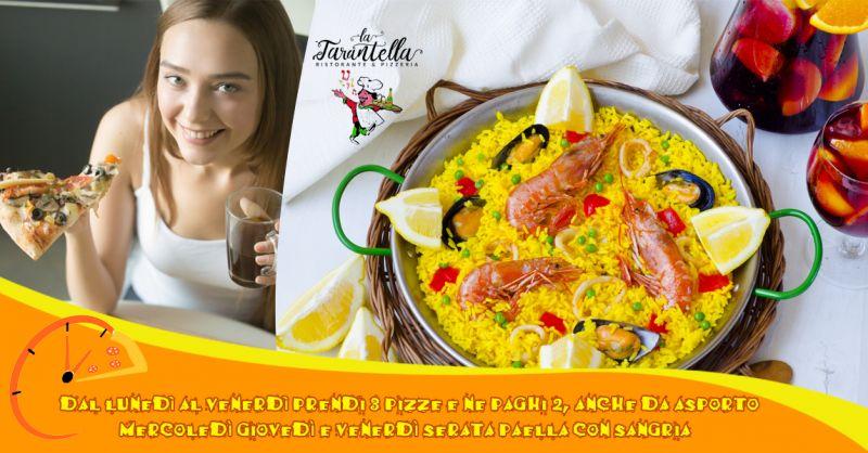 Offerta evento paella e sangria a Giffoni Valle Piana - Promozione pizza 3X2 amici e famiglia