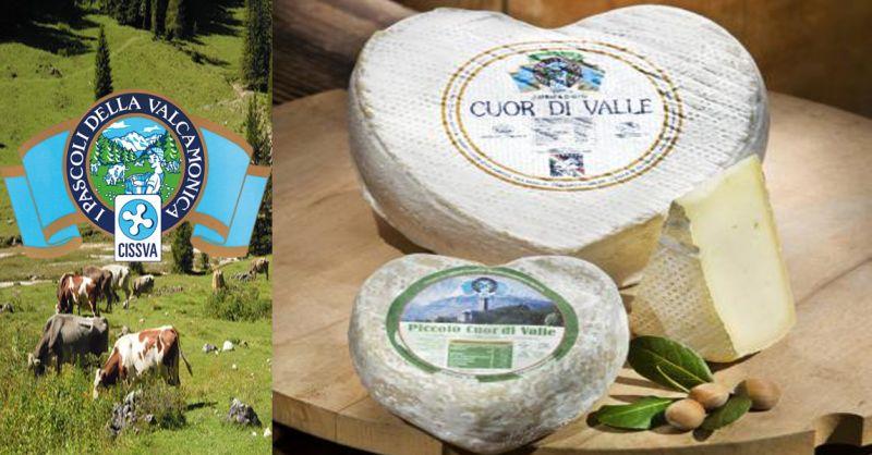 offerta vendita formaggio CUOR DI VALLE - occasione formaggi tipici della Valle Camonica