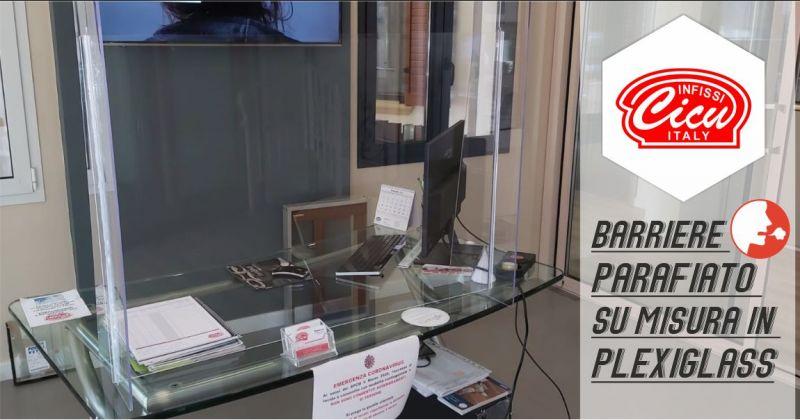 INFISSI CICU - offerta lavorazione e installazione barriere parafiato su misura in plexiglass