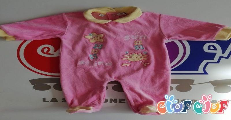 offerta vendita tutina neonati ciniglia - occasione abbigliamento usato per bambini a Verona