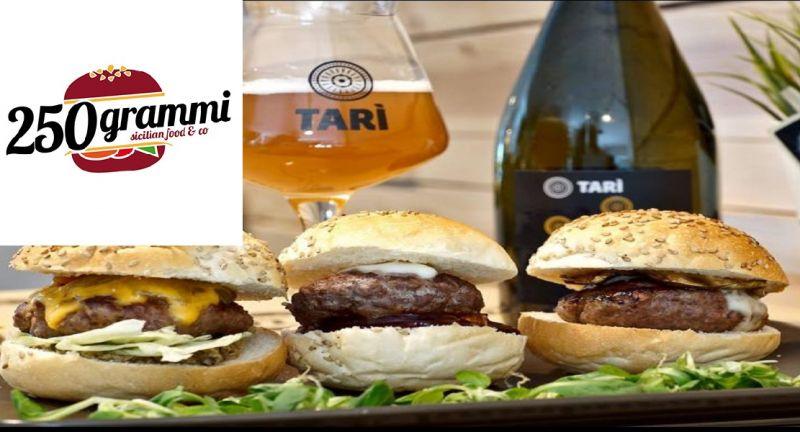 250 GRAMMI hamburgheria offerta panini e bevande - occasione menù nuovo catania