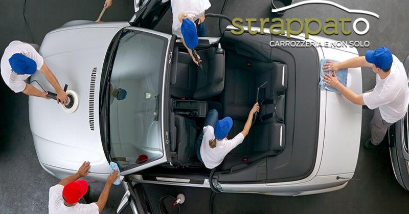 Carrozzeria Strappato offerta sanificazione e lavaggio tappezzeria auto Ancona