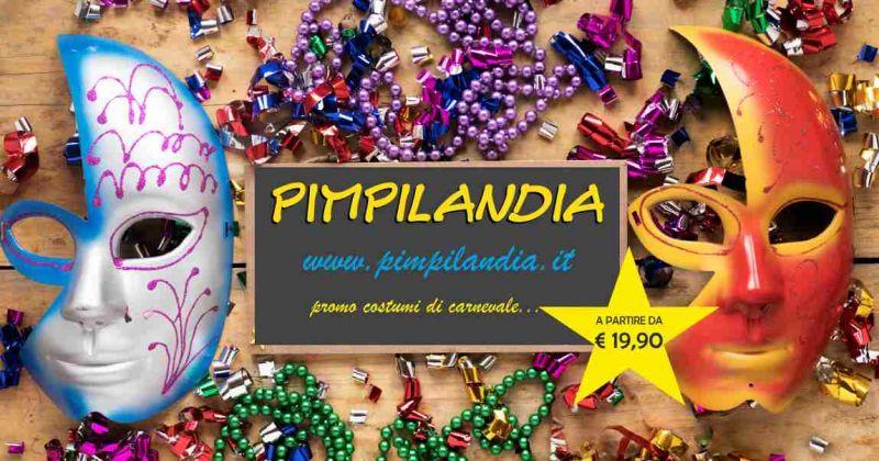 PIMPILANDIA SHOP ONLINE - offerta promozionale costumi e maschere carnevale