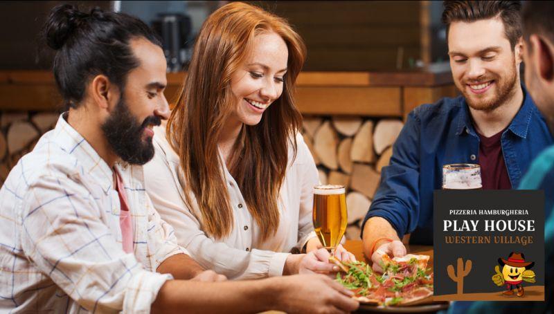 Offerta pizzeria location compleanno bari - promo location festa western hamburgeria modugno