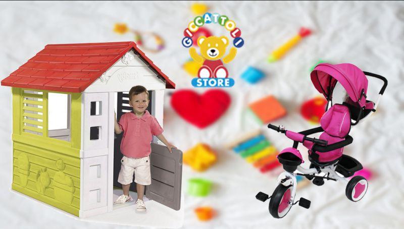 offerta casetta smoby - offerta TRICYGO METALLO -  offerta giochi all aperto lecce