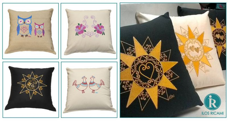 ILOS Oliena - offerta cuscini di design moderni ricamo tradizione sarda