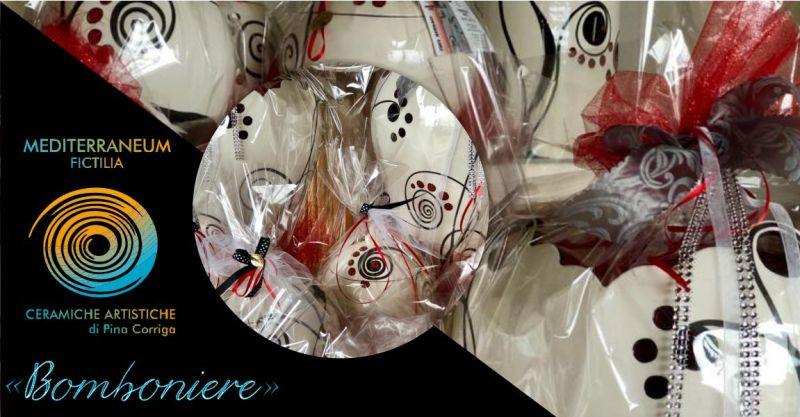 Mediterraneum Fictilia laboratorio -  offerta bomboniere ceramica artistica matrimonio
