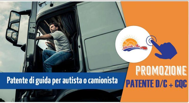 Autoscuola Alba - offerta rilascio rinnovo patenti  C D E CQC merci o persone