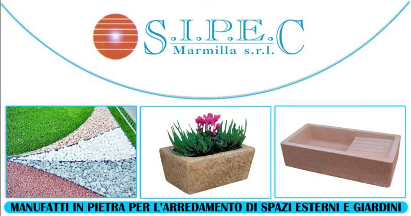 SIPEC MARMILLA Mogoro - offerta vendita manufatti in pietra per arredo urbano e giardini