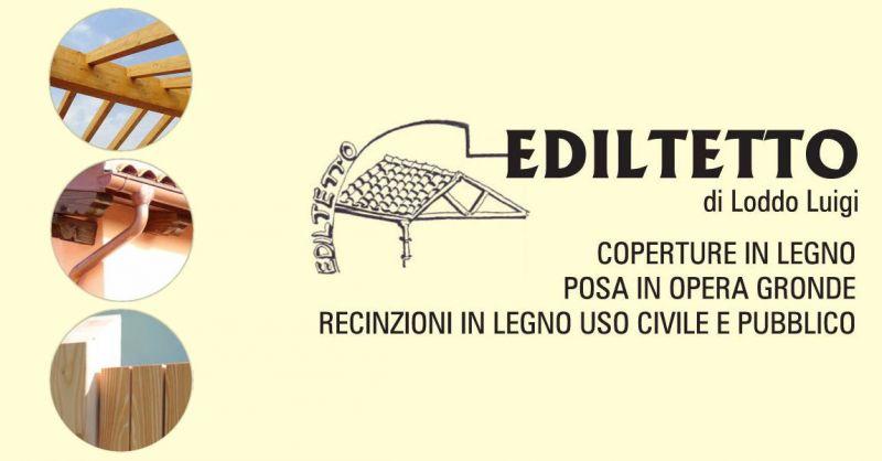 EDILTETTO  offerta realizzazione strutture coperture in legno - posa in opera gronde rame