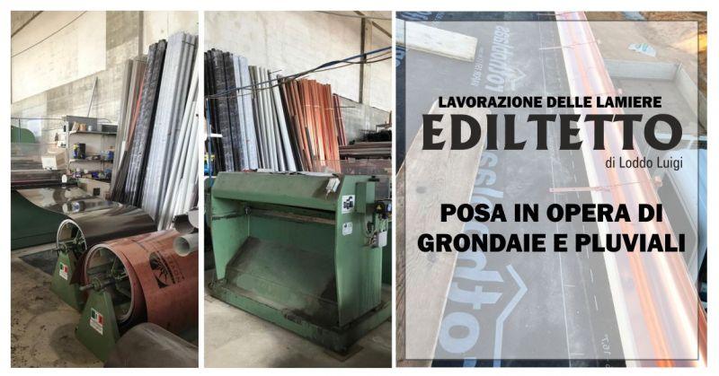 EDILTETTO - offerta lavorazione lamiere realizzazione grondaie e pluviali  rame