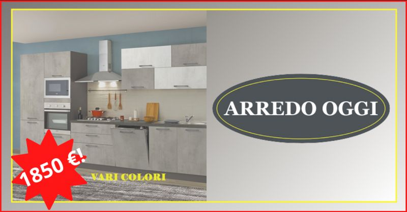 Offerta vendita cucina color cemento caserta - occasione cucina a meno di duemila euro napoli