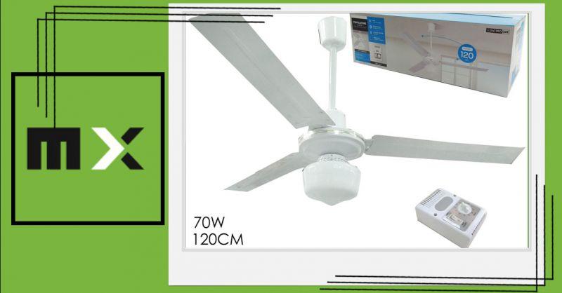 Offerta ventilatore Dictrolux Cagliari - Occasione ventilatore da soffitto con luce Sestu