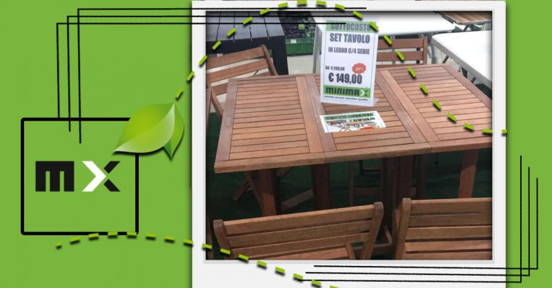 Offerta Set Tavolo e sedie giardino Cagliari - Occasione Tavoli da Giardino in Legno Cagliari