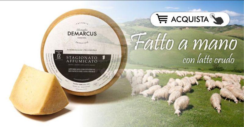 FORMAGGI SARDI CASEIFICIO DEMARCUS acquista  online - offerta pecorino affumicato stagionato 12 mesi