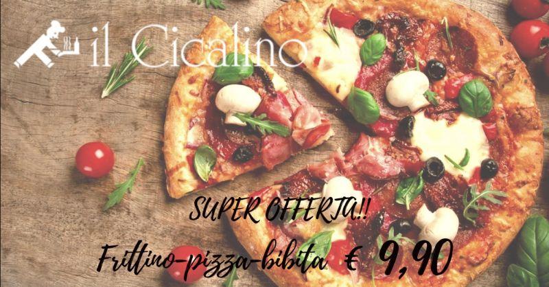 IL CICALINO offerta pizzeria Terni giropizza - occasione menù pizza 9 euro Terni